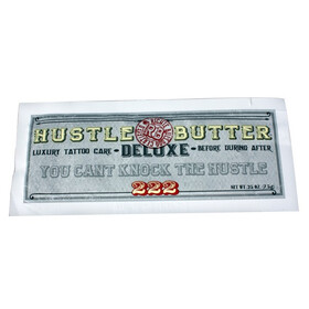 Hustle Butter Deluxe. 0,25 oz. 1 Pillow Pack. Luxury Tattoo Care.