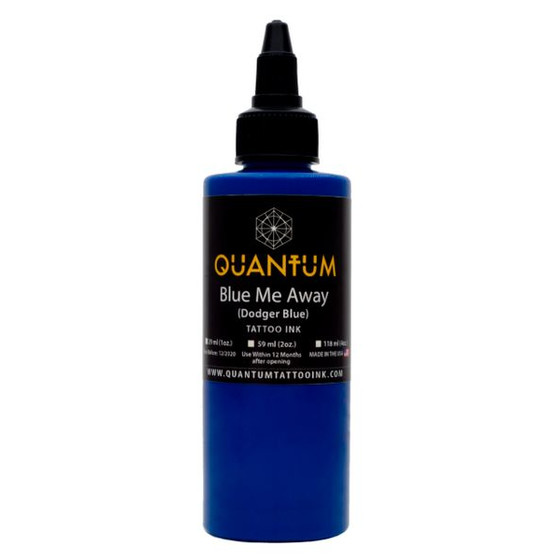 QUANTUM Tattoo Ink Blue Me Away (Dodger Blue). 1 oz. (ca 30 ml)