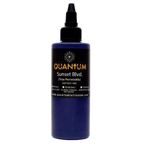 QUANTUM Tattoo Ink Sunset Blvd (True Periwinkle). 1 oz. (ca 30 ml)