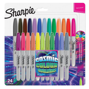 Sharpie Permanent Marker. Fine Point Cosmic Colour Marker. 24er Set Assorted Markers